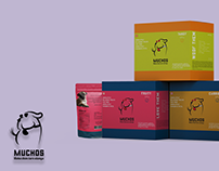 Muchos- 2D Dog Food Label Design