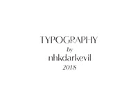 typography | nhkdarkevil | 2018