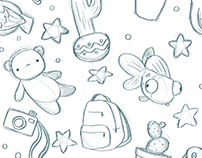 Pattern Design for Fletcher and Coy comic