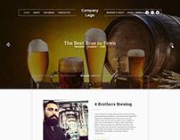 Brewery Beer Website Template