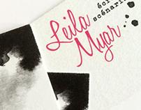 Carte de visite pour Leila Myar