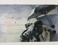 Still Life Paintings - Umbrella