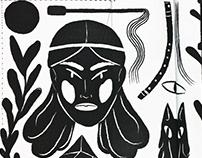 Shamanic illustrations for Retart