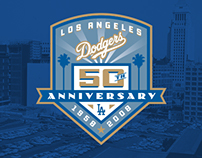 Los Angeles Dodgers 50th Anniversary Logo