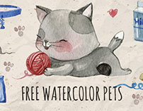 FREE Watercolor Pets