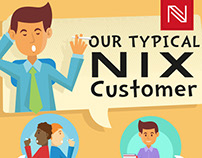 Typical NIX customer Infographic