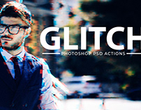 Free Glitch Effect & Vhs Effect Photoshop Template PSD