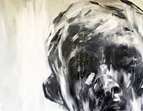 Study on Auguste Rodin - oil