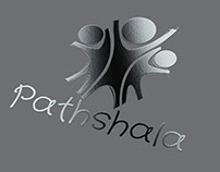 Pathshala Logo - metallic form
