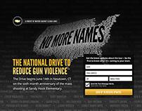 Microsite Design for No More Names Campaign