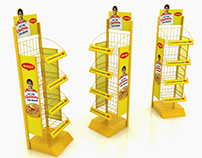 Maggi Wire Display with Rack Artwork Replacement Option