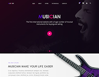 MUSICIAN.Landing Page