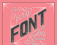Hand Drawn Type Humor Posters