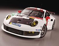 Porsche 911 RSR (2014) Studio shoots