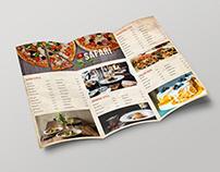 tri fold menu-free psd-template