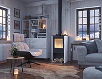 winter house interior