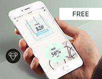 Store Discounts - Day62 UI/UX Free SketchApp Challenge