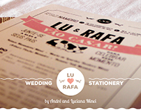 Wedding Stationery for Lu & Rafa