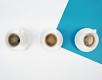 Coffee ad. Stop-motion/frame