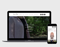 Дизайн сайта для Lena-Knit / Lena-Knit site design
