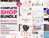 Shop Bundle Font Bundle