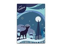 Illustration und Gestaltung Weihnachtskarte