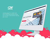 Landing Page for Credit Agricole Bank (free)