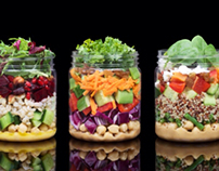 The Salad Jar food styling and photography project