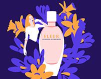 fleur - perfume ad illustration