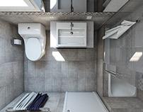 6 m2 Bath Room Design