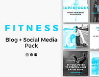 Fitness Blog & Social Media Pack