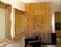 Champagne Gold Luxurious Acrylic Crystal Bead Curtain