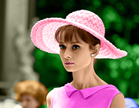 • Audrey Hepburn — colorized photo •