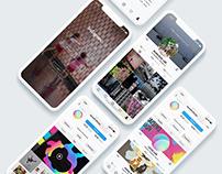 Instagram APP redesign | UI UX Design