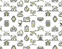 HIKING ICON SET FreeDownload / Icon Design