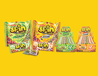 SPIN Candies Label Design