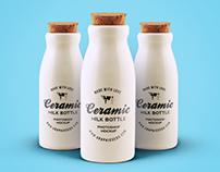 Ceramic Bottles PSD MockUp FREE