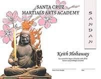 Certificate of Fudo & Cherry Blossoms for Dan Ranking