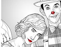 """Funny Love"" illustrations"