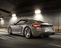Porsche 718 Cayman - CGI
