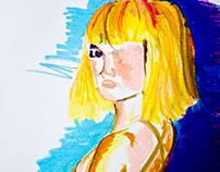 Serie de Ilustraciones en pastel óleo