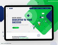 Saber | Landing page design
