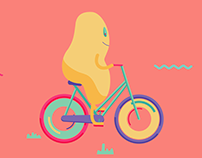 Biking animation
