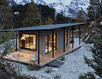 12 Mountain-cabin house |CGI and Free Design