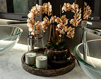 ORCHID TRAY DECORATION