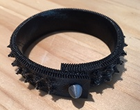 Rubber Spike Bracelet