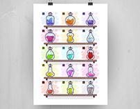 Adobe Potion Bottle Icons