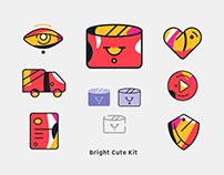 Bright cute kit