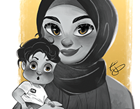 Mother and Son - Commission