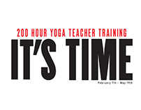 IT'S TIME - HeartYoga - Teacher Training Poster